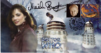 "Doctor Who ""Revelation Of The Daleks"" Classic Stamp Cover - Signed NICOLA BRYANT"