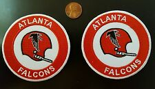 "(2) Atlanta Falcons vintage embroidered iron on  Patch Lot 3"" x 3"" NFL"