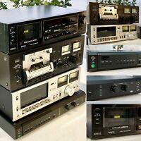 SANSUI SC 1110, BRAUN C1,TECHNICS 615, DENON DR-M22,Vintage,Tape Deck, Konvolut
