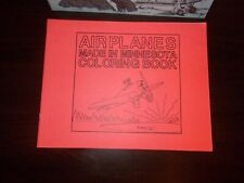 August Martin Activity Book & Airplanes made in Minnesota Coloring Book