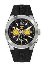 Mens Caterpillar T7 CAT AB14921137 Black Rubber Black Dial Day Date Sport Watch