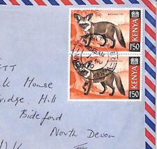 XX115 1970 KENYA Nairobi GPO 3s Rate Airmail BAT-EARED FOX [samwells-covers}