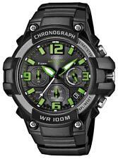 Casio Chronograph Herren Armbanduhr MCW-100H-3AVEF schwarz grün