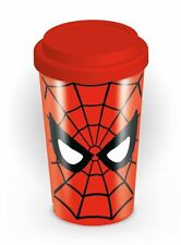 Marvel Comics Spider-Man Eyes Ceramica Viaggio Tazza Con Tappo In Silicone