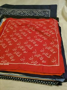 vintage bandana Lot of 28 bandanas made in usa crafted Mixed lot brands