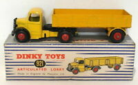 Vintage Dinky 921 - Articulated Lorry - Yellow Red Hubs