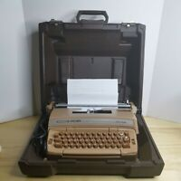 Smith Corona Coronet Coronamatic Super 12 Brown Electric Typewriter 6E W/Case