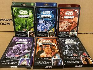 TOPPS STAR WARS FACTFILE COMPLETE 6 STICKER SETS & ALBUMS TOTAL 504 STICKERS/