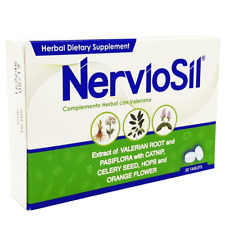 Nerviosil Herbal Supplement w/ Valerian Root & Passion Flower 30 Tabs  Exp 5 /22