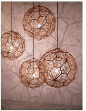 Modern Copper Etch Pendant Lights Stainless Steel Bedroom Ceiling Lamp Fixtures
