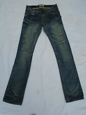 Ladies Crafted Ripped Creased Distressed Straight Leg Jeans  W30 L33