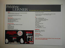 ▓ PLAN MEDIA ▓ FREDERIC LERNER ( PROMO 2007 / 2008 )