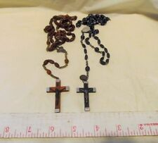 Vintage Wooden Rosary Lourdes France lot 2 Paulus VI one w/holy water LQQK!