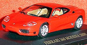 Ferrari 360 Modena Coupe 1999-2005 Red 1:43 Ixo FER004