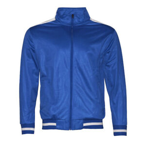Mens Athletic Tracksuit Set Gym 2-Piece Zip Up Jacket Jogger Pants