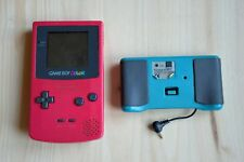 GBC - Nintendo GameBoy Color in Pink mit PowerGrip