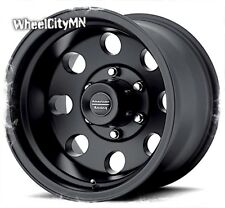 16 x8 inch black American Racing Baja AR172 wheels fits Toyota Tacoma 6x5.5 +0