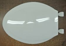 Centoco Solid Plastic Toilet Seat with Cover for Elongated Bowl, White, NEW