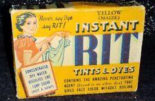 1940s Vintage RIT Instant Dye NOS original Box 10 cent Yellow