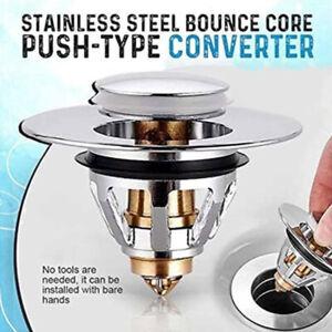 Universal Wash Basin Core Bounce Drain Filter Up Bathroom Sink Plug Sturdy