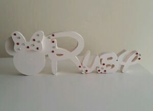 Personalised Wooden Free Standing Disney Font Name With Mickey.Price Per Letter.
