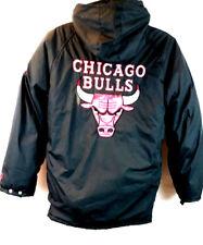 Vintage Pro Player Men's 90's NBA Chicago Bulls Reversible Coat Jacket Medium