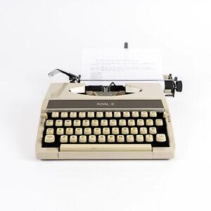 Vintage 1969 Royal Mercury Portable Manual Typewriter Beige