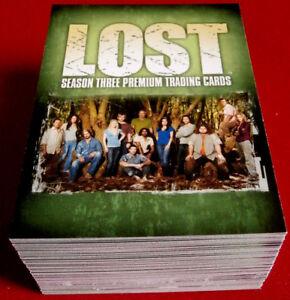 J J Abrams' LOST -  Season Three - COMPLETE BASE SET of 90 cards - Inkworks 2007