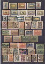 AZERBAIJAN 1919-1923, 92 STAMPS, VARIETIES, COLOR SHADES!