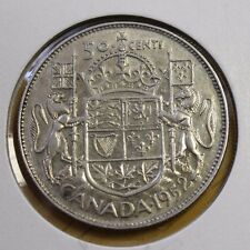 Canada 1952 50 Cents Silver XF