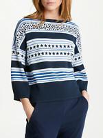 Marella By Max Mara Ladies Blue Stars & Stripes Jumper Size S,M,L,XL was £160
