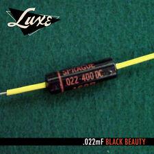 LUXE 1960-1970 llena de aceite . 022mF Negro Beauty Condensador