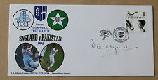 CRICKET ENGLAND V PAKISTAN TEST MATCH 1996 COVER SIGNED BY RAY ILLINGWORTH