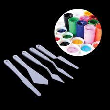 5Pcs Plastic Palette Knife Knives Set Artist Oil Paints Painting Mixing
