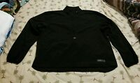 Izod Wind Breaker Jacket 1/2 Zip Black Mens Size L