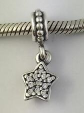 Authentic Pandora Sterling Silver Pave Star Clear CZ Charm 791024CZ New