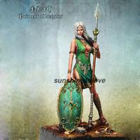 Unpainted 75mm Female Warrior Figure Model Resin Garage Kit Unassembled Statue