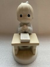 "Precious Moments ""Lord Teach Us To Pray� Figurine #524158 Girl With Bible 1993"