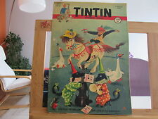JOURNAL DE TINTIN N°27 4EME ANNEE BE/TBE 1949 2 TROUS