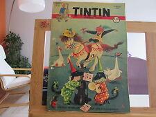 JOURNAL DE TINTIN N°27 4EME ANNEE BE/TBE 1949 2 TROUS