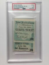 1880 Republican National Convention Ticket Pass President James Garfield PSA
