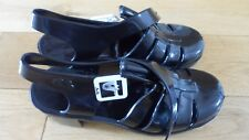 Fab Ladies JuJu Black Jelly Rubber Beach Shoes, UK size 6