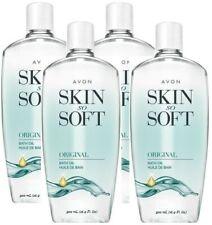 4x Avon Skin So Soft Original + Jojoba Fresh Scented Bath Oil Moisturizer 16.9oz
