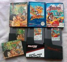 Disney Nintendo NES BUNDLE RARE RETRO JUNGLE BOOK DUCK TALES TALESPIN BOXED GC