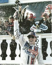 2017 Ryan Blaney Wood Brothers 1st Win Monster Cup NASCAR Signed 8x10 Photo