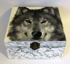 "Caja Para Joyería/baratijas Decorado. 'Lone Wolf, ""por ranas moteado"