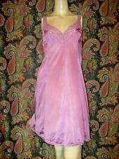 Vintage Vanity Fair Lacy Purple Nylon Princess Slip Nighty Lingerie 34