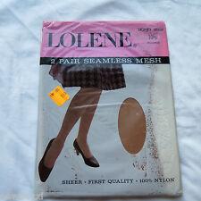 Vintage Nylon Stockings Lolene Stockings Seam Free Two Pairs Size 10.5