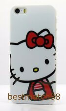 for iphone 5 5s cute hello kitty white red heart hard back case screen protector