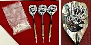"""3 Soft Tip Eight Ball Darts Extra Tips                                      """"02"""""""